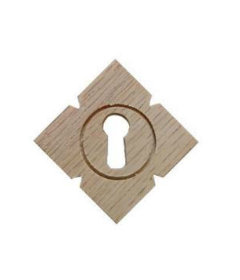 Oak Victorian Keyhole Cover