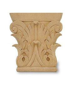 "Artfully Corbel Carved Applique - 6"" X 6"""