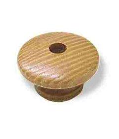 Wood Striated Brown Thru Hole Drawer Knob 1-1/2''