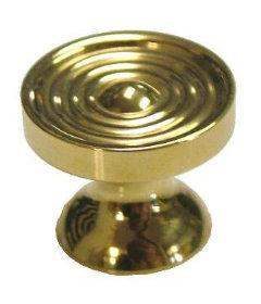"Small Machined Brass Knob 5/8"""