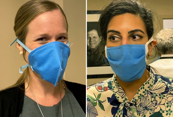 Mask prototypes worn by UF department of anesthesiology staff