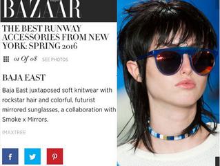 Brianna, Harpers Bazaar, for Baja East NYFW15, SS16