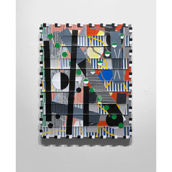 Zach Searcy. Collider. 16 in x 20 in. Acrylic on linen. 2020. 950