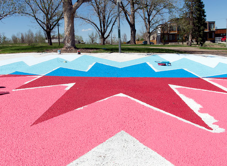 Zuni Park Basket Ball Court Mural WIP