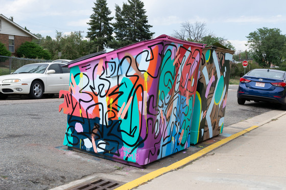 Eye-sore to Eye-catching, BSC Dumpster Murals at Columbine Homes