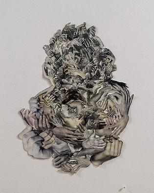 Samuel Mata. Culture Grip. Paper collage