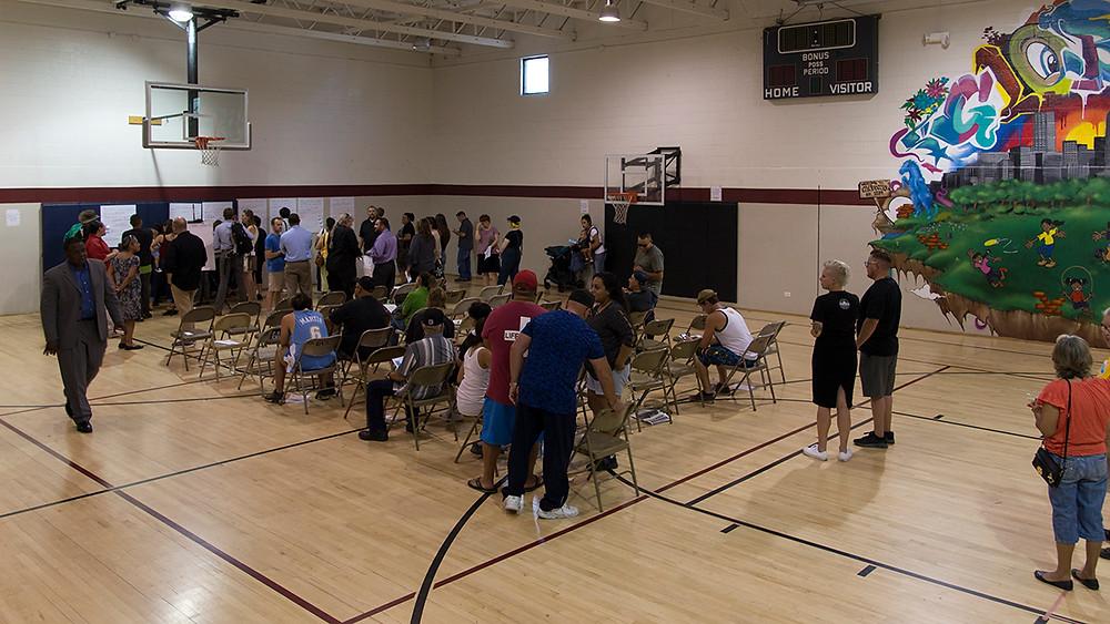 Community meeting at GRC