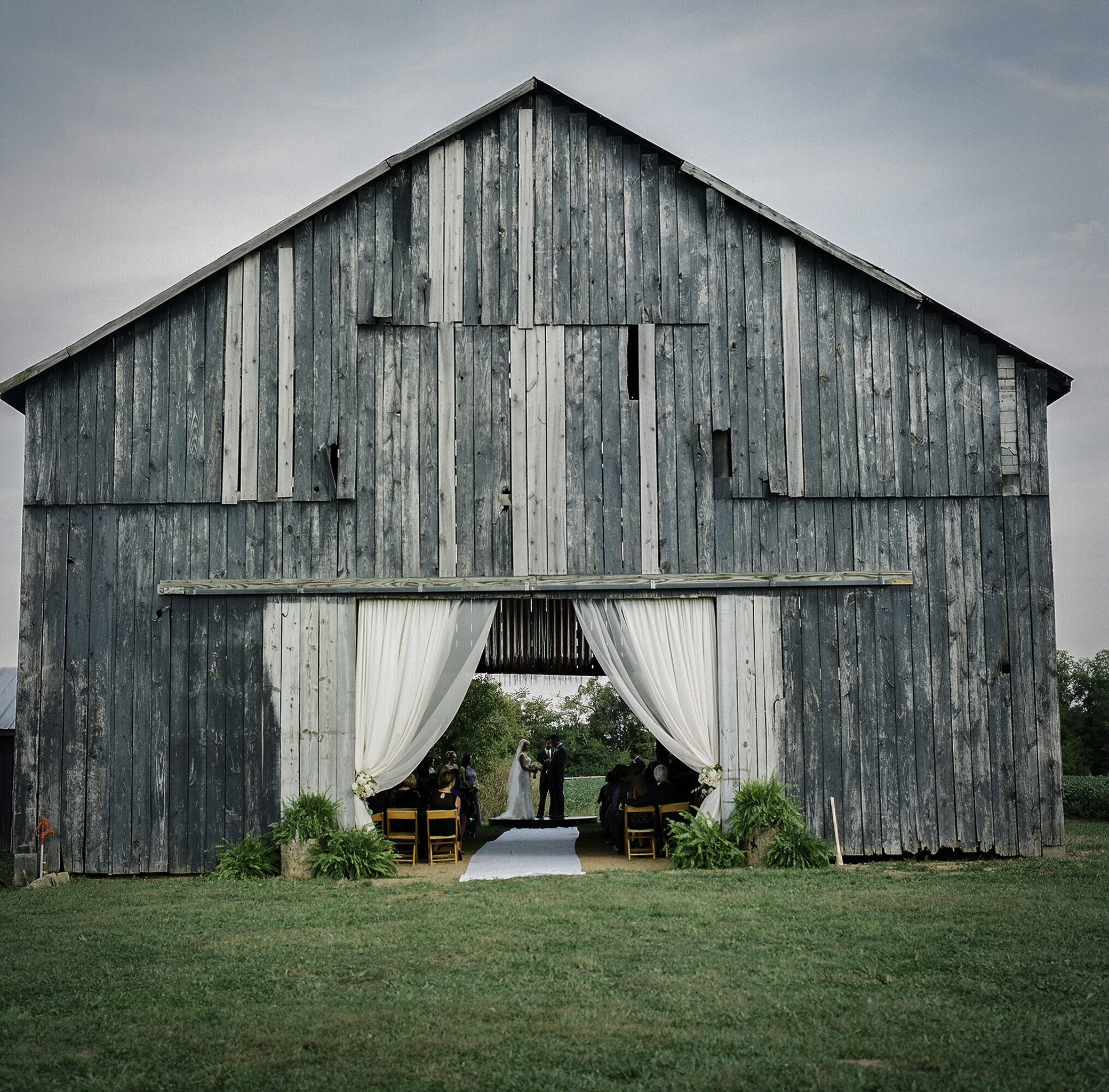 Exterior View of Tobacco Barn