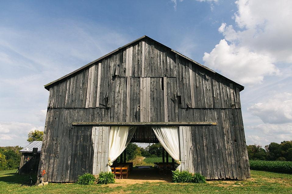 The Ceremony Barn At Walnut Way Farm