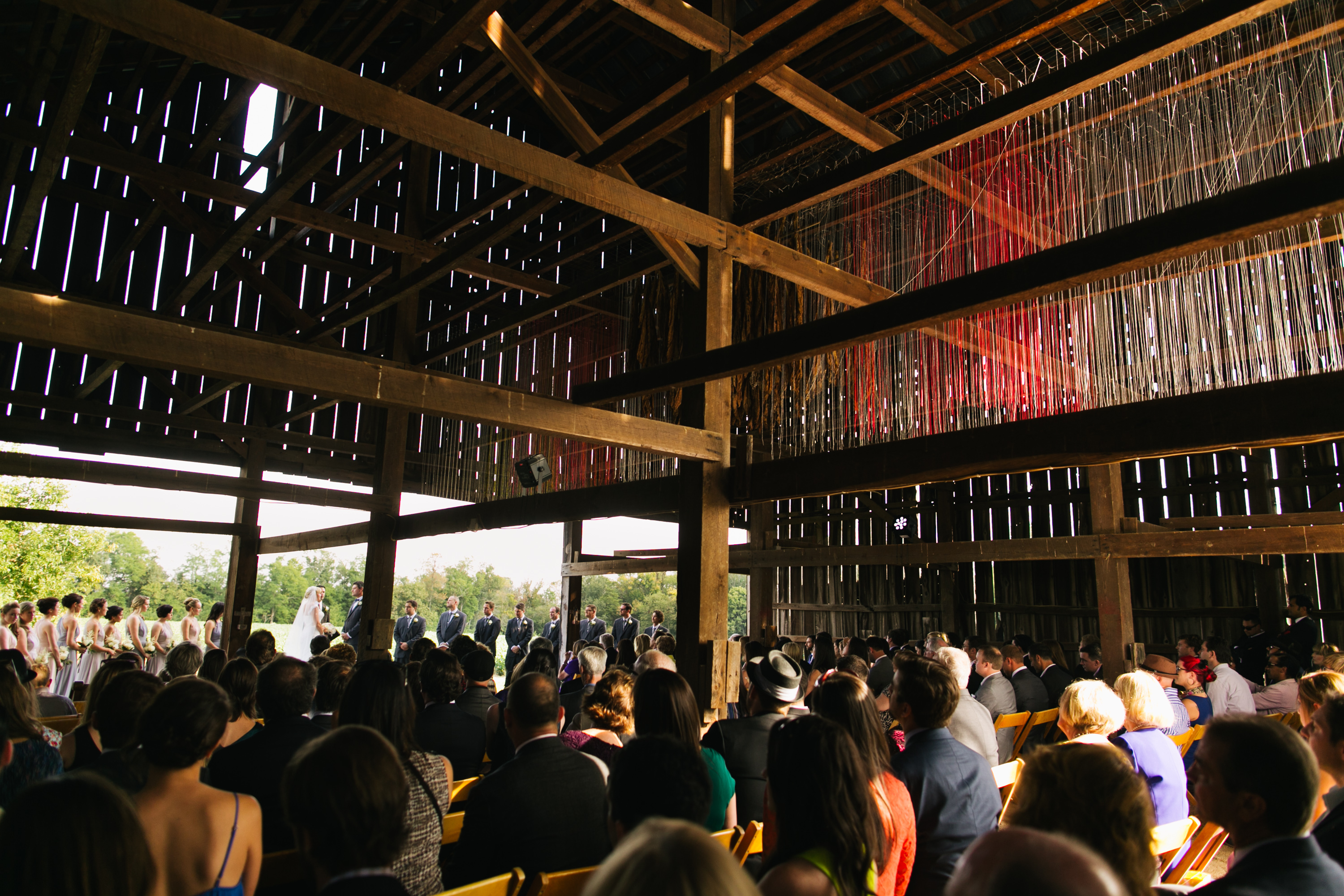 Wedding at The Tobacco Barn