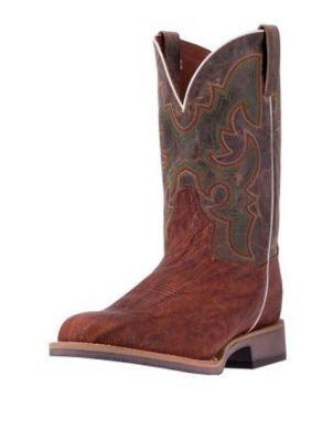 Dan Post Western Boots Mens Odessa Wide Round Stockman Brown DP4509