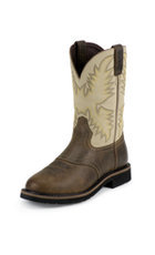 Justin Waxy Brown Stampede Workboot #WK4660