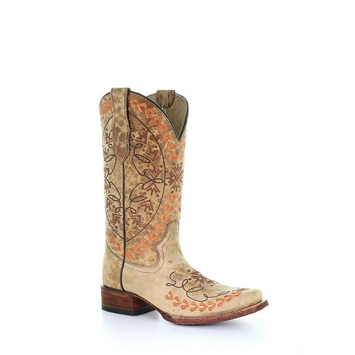 Circle G by Corral Ladies Straw Embroidery Boots