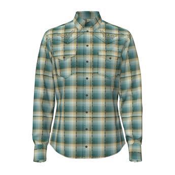 Rock 47® By Wrangler® Long Sleeve Western Shirt - Modern Fit  Teal