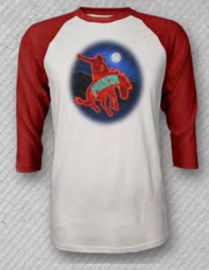 "HOOEY Moonlight Rides"" Women's Baseball Tee"