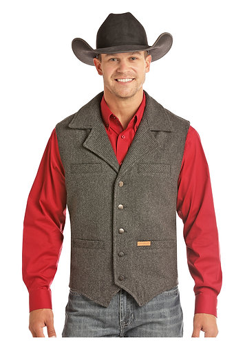 POWDER RIVER OUTFITTERS  HEATHER STRIPE VEST