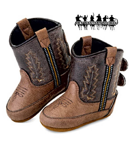 Old West Brown Poppet Infant Boots