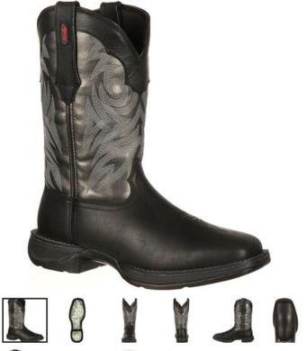 DURANGO Men's Rebel Pull-On Western Boot blk DB014