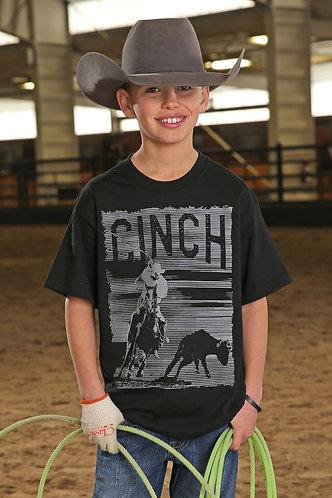 CINCH BOY'S BLACK TEAM ROPING GRAPHIC TEE MTT7670072