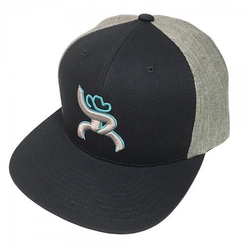 "Hooey Brand ""Hawk"" Roughy Navy/Heather Snapback Hat"