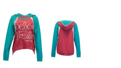 COWGIRL TUFF LADIES Red and Turquoise Hoodie F00351