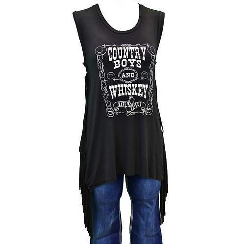 COWGIRL HARDWARE Country Fringe Tank