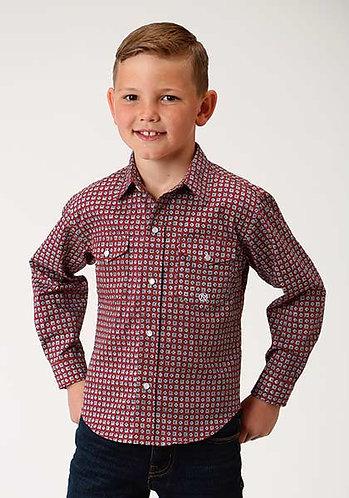 Roper Boys Long Sleeve Western Shirt