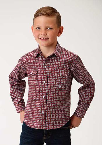 6e191abfc Roper Boys Long Sleeve Western Shirt