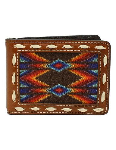 Nocona Western Wallet Men Southwest Lace Bifold Multi-Color