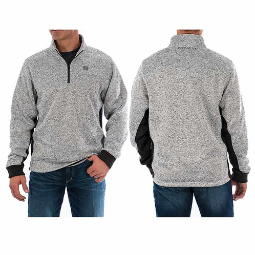 Cinch Knit Pullover in Heather Grey