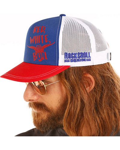 Dale Brisby Red, White, Bull Ball Cap