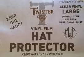 M&F Clear Plastic Hat Protector