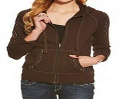 Ariat Western Sweatshirt Womens Caroline Zip Hoodie Ganache 10016078