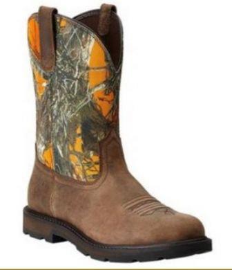 Ariat Men's Timber Orange Groundbreaker Boot 10014242
