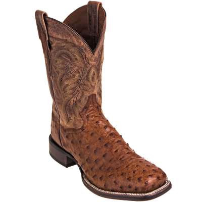 Dan Post Boots: Men's Brown Leather Alamosa 11-Inch Cowboy Boots