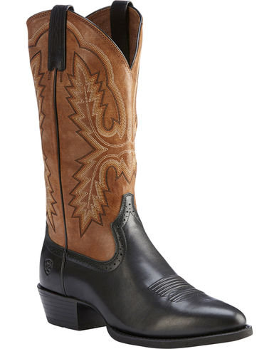 Ariat Men's Black Heritage Calhoun Limousin Boots - Pointed Toe 10023169