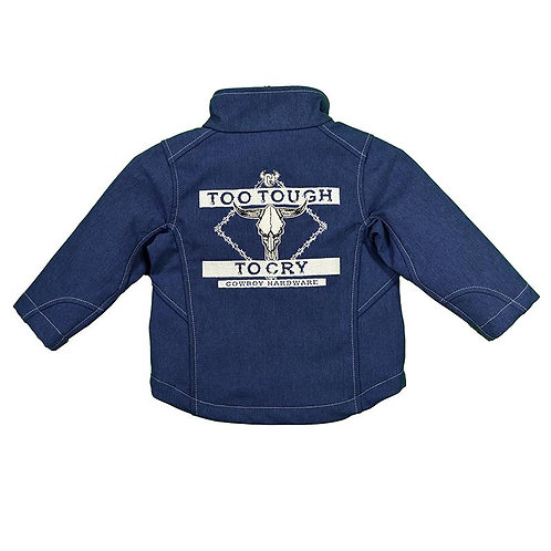 Infant/Toddler Boy's Cowboy Hardware Too Tough to Cry Heather Navy Soft Shell Ja