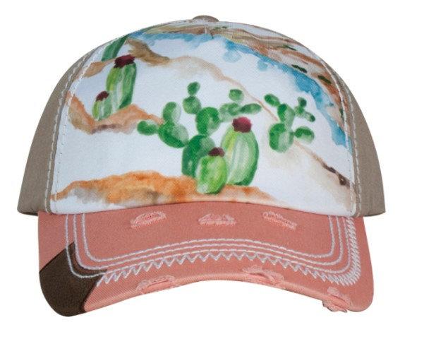 Catchfly - Women's Cactus Watercolor Cap