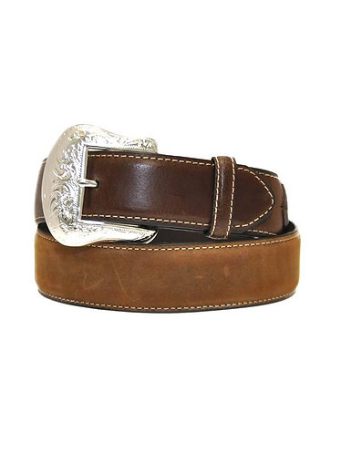 Nocona N2475444 Mens Lace Billet and Diamond Concho Belt Tan