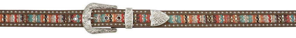 Angel Ranch Brown 1.5in Leather Womens Belt Fashion
