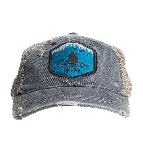 Mason Jar Label Llc Mens Floats Your Boat Hat One Size Distressedblack