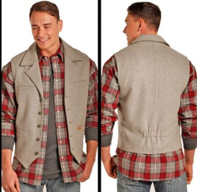 PANHANDLE/POWDER RIVER OUTFITTERS HEATHER GREY MONTANA VEST 98-1176