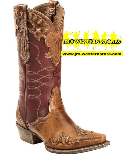 Ariat Tan/Red Zealous Barnwood Boots