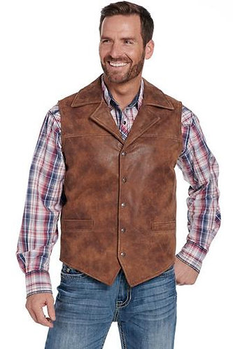 Cripple Creek Conceal Carry Leather Vest