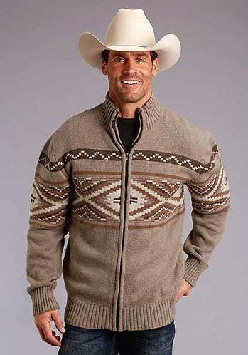 MEN'S AZTEC SWEATER KNIT CARDIGAN