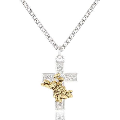 Montana Silversmiths Bullrider Cross Necklace