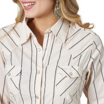 Wrangler® Western Fashion Top - LW5126M - Peach Stripe