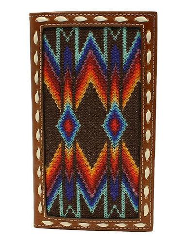 Nocona Western Wallet Mens Southwest Lace Rodeo Multi-Color