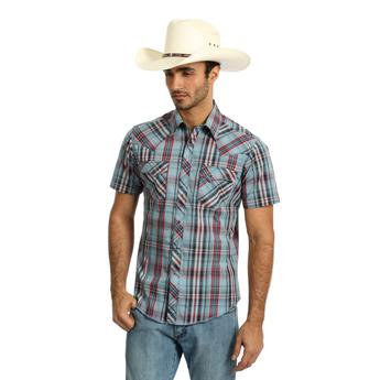Wrangler® Fashion Snap Long Sleeve Shirt - Grey/Red