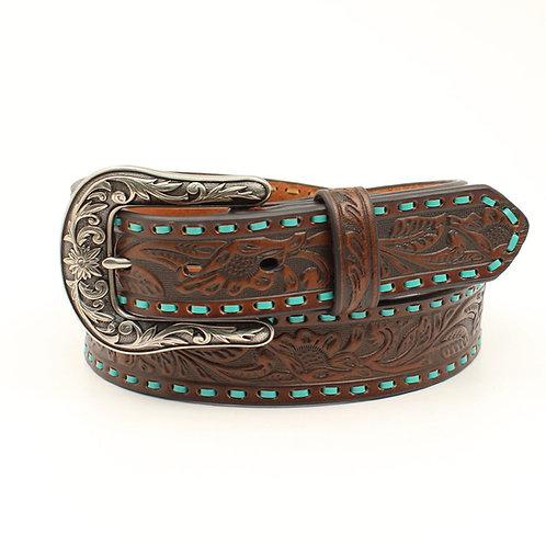 Nocona Ladies' Belt Turquoise Laced Edges
